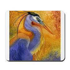 Gold Light Heron Mousepad