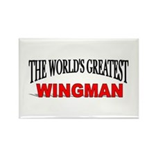 """The World's Greatest Wingman"" Rectangle Magnet"
