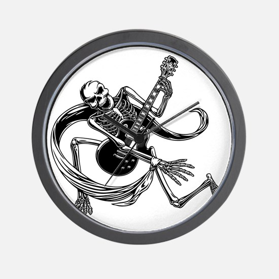skel-guit-3-2-DKT Wall Clock