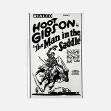 Hoot Gibson Man in Saddle Rectangle Magnet