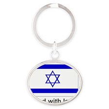 istandwithisrael Oval Keychain