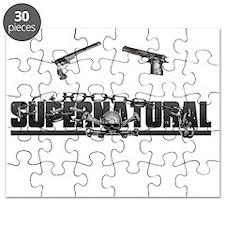 supernatural Line Floral Skull Colt Guns Puzzle
