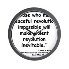 Kennedy Revolution Quote Wall Clock