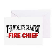 """The World's Greatest Fire Chief"" Greeting Cards ("
