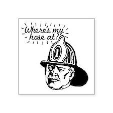 "firemansave01 Square Sticker 3"" x 3"""