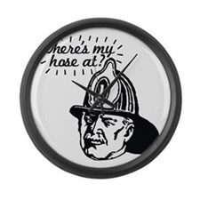 firemansave01 Large Wall Clock
