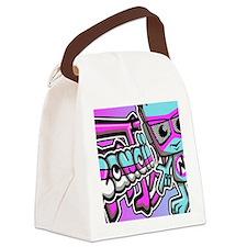 NewWaveNoteCardKanji Canvas Lunch Bag