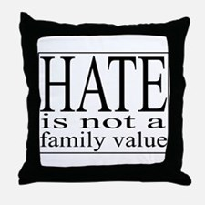 Hate Throw Pillow