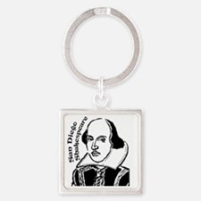 Shakespeare-for-round2 Square Keychain