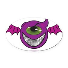 PurplePeopleEaters Oval Car Magnet