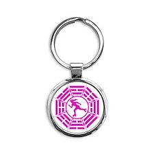DHARMA_DERBY_GIRL r Round Keychain