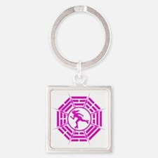 DHARMA_DERBY_GIRL r Square Keychain