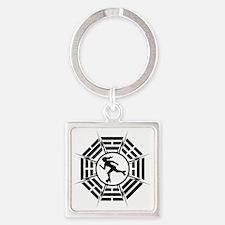 DHARMA_DERBY_GIRL Square Keychain