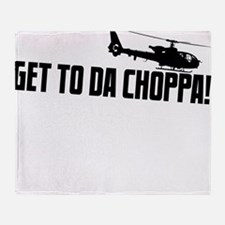 choppa3 Throw Blanket