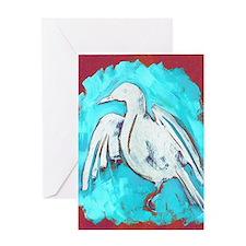 WhiteCrow Greeting Card