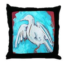 WhiteCrow Throw Pillow