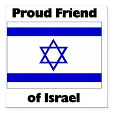 "proudfriend Square Car Magnet 3"" x 3"""