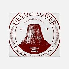 Devils Tower W Throw Blanket