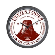 Devils Tower W Wall Clock