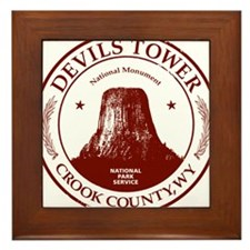 Devils Tower W Framed Tile