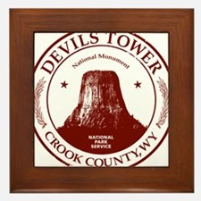 Devils Tower W Framed Tile