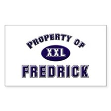 Property of fredrick Rectangle Decal