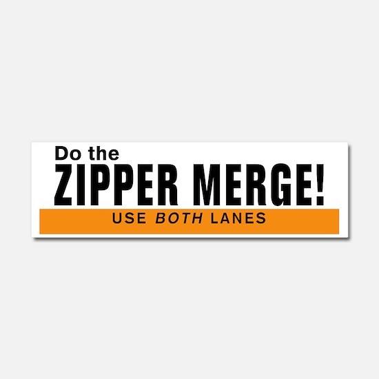 zipperBumperSticker Car Magnet 10 x 3