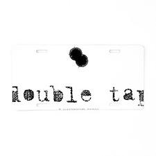 DoubleTapLight Aluminum License Plate
