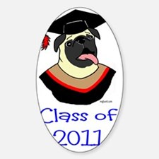 Pug Graduate shirt_edited-2 Decal