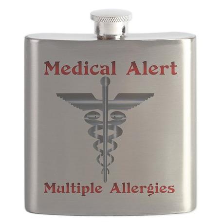 Multipe Allergies Medical Alert Flask