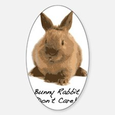 Bunny Rabbit Dont Care! Decal