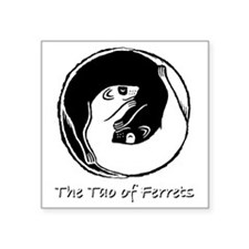 "Ferret Bliss 8 Square Sticker 3"" x 3"""