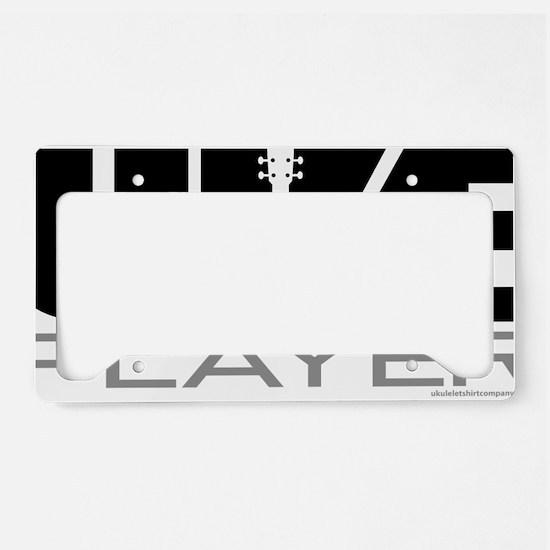 Uke Player License Plate Holder