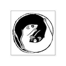"Ferret Bliss 9 Square Sticker 3"" x 3"""