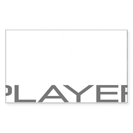 Uke Player Sticker (Rectangle)