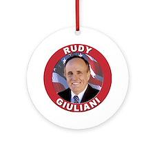 Rudy Giuliani Ornament (Round)