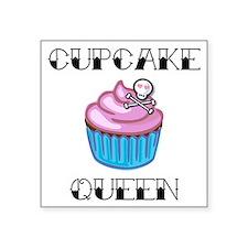 "Cupcake Queen2 Square Sticker 3"" x 3"""