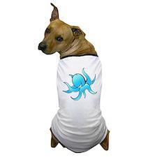 octopus aqua Dog T-Shirt