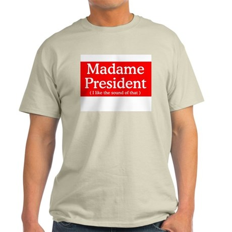 HILLARY CLINTON FOR PRESIDENT Ash Grey T-Shirt
