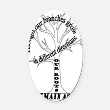 Family Roots Oval Car Magnet