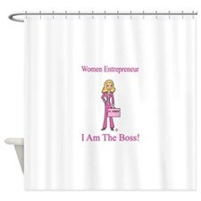 I am The Boss Shower Curtain