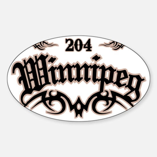 Winnipeg 204 Sticker (Oval)