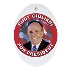 Rudy Giuliani for President Oval Ornament