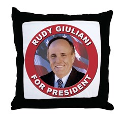 Rudy Giuliani for President Throw Pillow