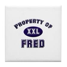 Property of fred Tile Coaster