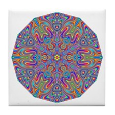 Digital Mandala 4 Tile Coaster