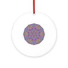 Digital Mandala 4 Round Ornament