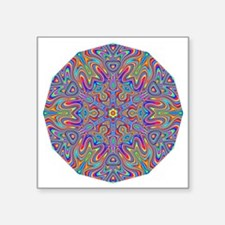 "Digital Mandala 4 Square Sticker 3"" x 3"""