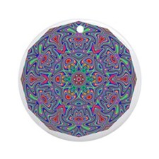 Digital Mandala 5 Round Ornament