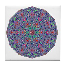Digital Mandala 5 Tile Coaster